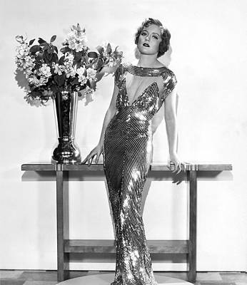 Evening Gown Photograph - An Elegant Evening Gown by Underwood Archives