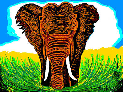 An Elephant-3 Art Print by Anand Swaroop Manchiraju