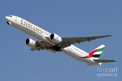 Transportation Royalty-Free and Rights-Managed Images - An Emirates Boeing 777-200 Airliner by Luca Nicolotti