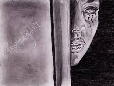 An Emotional Girl Art Print by Priyanka Patil