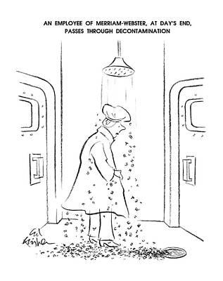 An Employee Of Merriam-webster Art Print
