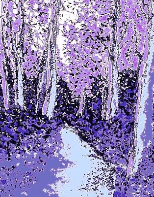 Painting - An Enchanted Forest by Hazel Holland
