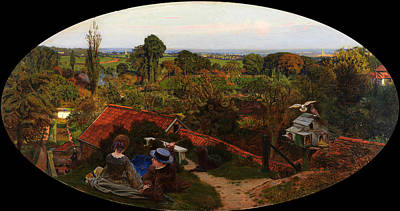 An English Autumn Afternoon Art Print by Ford Madox Brown