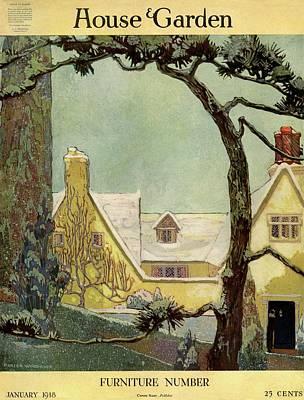 An English Country House Art Print