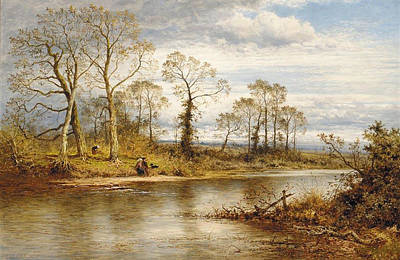Benjamin Williams Leader Painting - An English River In Autumn by MotionAge Designs