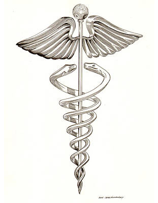 Drawing -  Ephemeral Caduceus by Jack Pumphrey