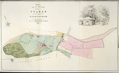 Cartographic Photograph - An Estate At Fulmer by British Library