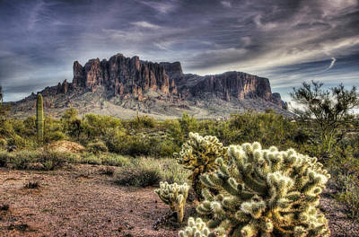 The Supes Photograph - An Evening At The Superstitions by Saija  Lehtonen