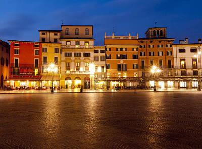 An Evening In Piazza Bra Art Print