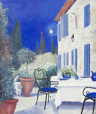 An Evening In Provence Art Print by Jan Matson