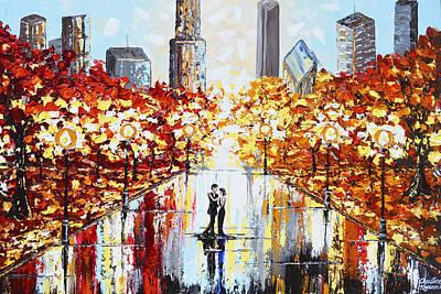 San Diego Artist Painting - An Evening In The City by Christine Krainock