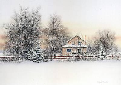 An Evening Silent And Still Art Print by Conrad Mieschke