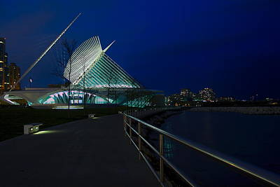 An Evening Stroll At The Calatrava Art Print