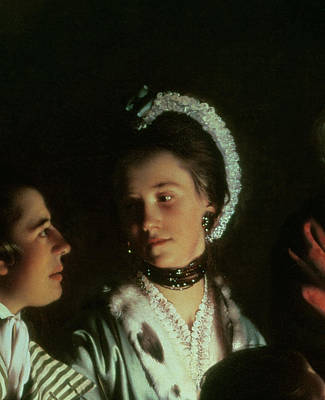 Shocking Photograph - An Experiment On A Bird In The Air Pump, 1768 Oil On Canvas Detail Of 5872 by Joseph Wright of Derby