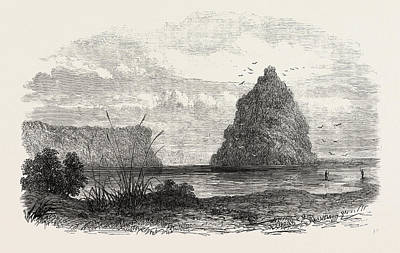 New Zealand Drawing - An Exploring Party On The West Coast Of New Zealand Mouth by New Zealand School