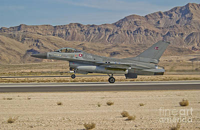 An F-16a Fighting Falcon Of The Royal Art Print by Scott Germain