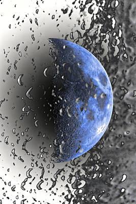 Half Blue Moon Phase Art Print