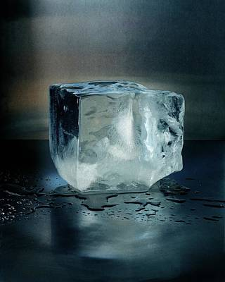 Still Life Photograph - An Ice Cube by Romulo Yanes