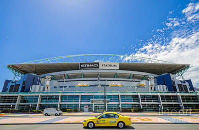 Photograph - An Icon Of Australian Sport - Etihad Stadium - Docklands - Melbourne by David Hill