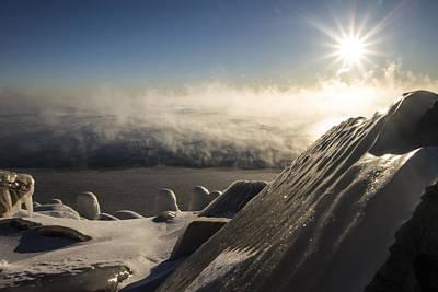 An Icy Scene In The Morning Sun Art Print