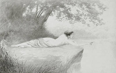 Nudes Drawing - An Idyll by Charles Prosper Sainton