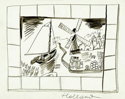 An Illustrated Depiction Of Holland Art Print by Ludwig Bemelmans