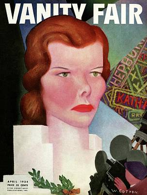 Katharine Hepburn Vanity Fair Cover Art Print by William Cotton