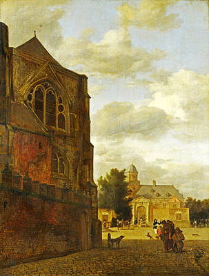 Painting - An Imaginary View Of Nijenrode Castle by Jan van der Heyden