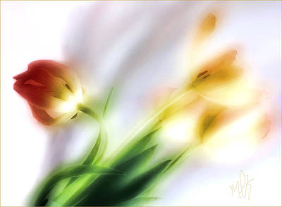 Photograph - Impression Of Tulips by Louise Kumpf