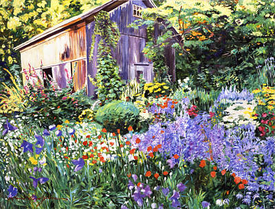 An Impressionist Garden Art Print by David Lloyd Glover