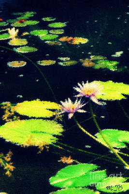 Photograph - An Impressionistic Lilly Pond  by Mindy Bench