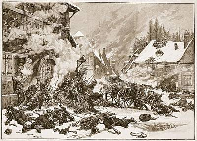 Franco-prussian War Drawing - An Incident In The Battle by Alphonse Marie de Neuville