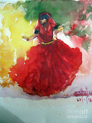 An Indian Dancer Art Print