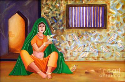 An Indian Village Woman Art Print by Divya Kakkar
