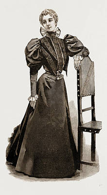Indoor Drawing - An Indoor Dress, 1897 by Litz Collection