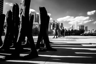 An Infrared Look At Chicago's Agora  Art Print by Sven Brogren