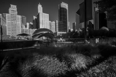An Infrared Look At Chicago's Cloud Gate Art Print by Sven Brogren