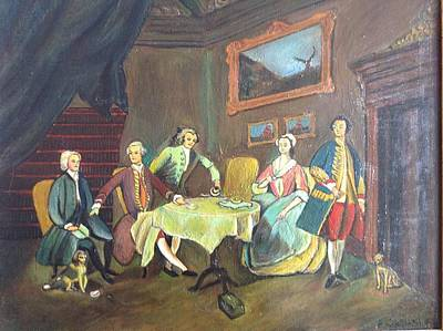 Art Print featuring the painting An Interior Setting by Egidio Graziani