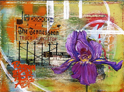 An Iris For The Tennessean Art Print by Andrea LaHue aka Random Act