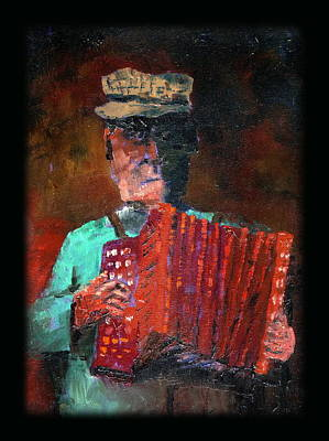 Accordian Painting - An Irish Squeeze by Val Byrne