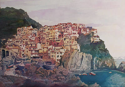Cinque Terre Painting - An Italian Jewel by Jenny Armitage