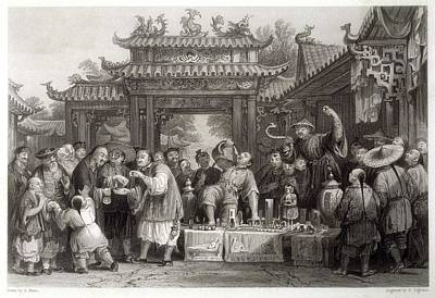 An Itinerant Chinese Doctor At Art Print by Mary Evans Picture Library