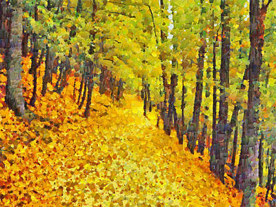 Digital Art - An October Walk In The Woods. 2 by Digital Photographic Arts