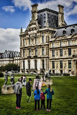 An Oil Painter In A Park In Paris Art Print by Sven Brogren