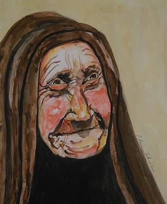 Painting - An Old Arab Woman by Esther Newman-Cohen