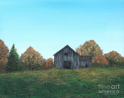 Painting - An Old Barn by Billinda Brandli DeVillez