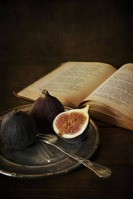 Lead The Life Photograph - An Old Books And Fresh Figs by Jaroslaw Blaminsky
