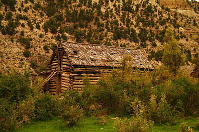 An Old Cabin In Utah Print by Jeff Swan