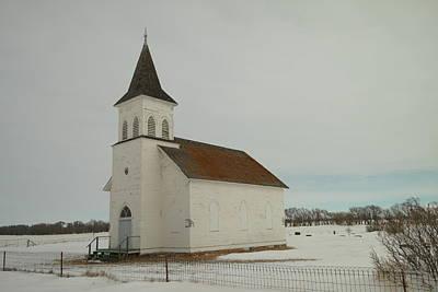 An Old Church In North Dakota Print by Jeff Swan