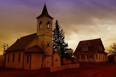 An Old Church In Williston North Dakota  Art Print by Jeff Swan